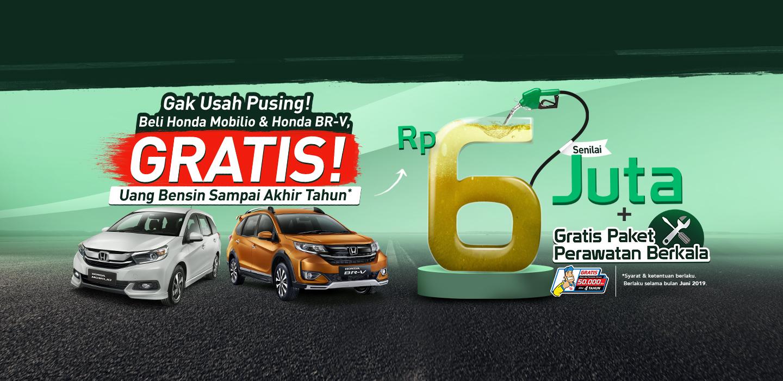 Beli Honda Mobilio & BR-V GRATIS Uang Bensin Sampai Akhir Tahun!